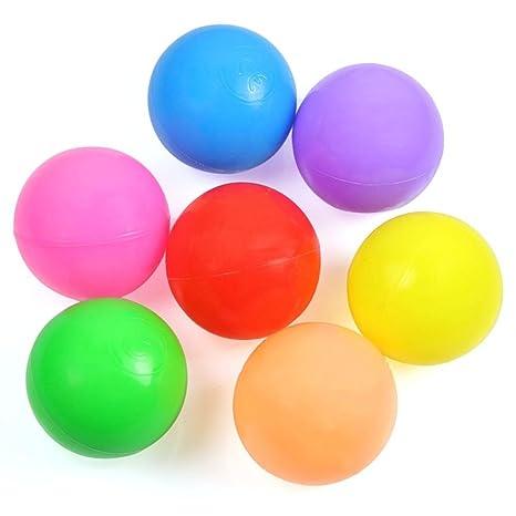 Pelotas Plastico Niño Bebe Colores 100 Piezas SKL Bolas Piscina También Para Paquete de Bolas / Tienda de Campaña Infantiles: Amazon.es: Juguetes y juegos