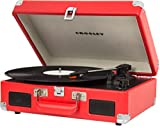 Crosley CR8005C-RE Cruiser II Portable Battery Powered 3-Speed Turntable