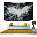 Mabel D. Silva Bat Tapestry wall Hanging Wall Tapestry Black and White Tapestry Clean Hippie Tapestry Beach Tapestry Wall Tapestry for Bedroom (60x40)