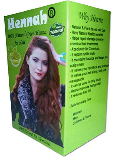 Hennah 100% Natural Pure Henna Powder for Hair Dye and Growth for Women Men Henna Hair Color 80 Grams