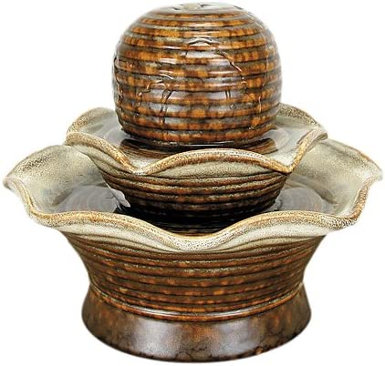Indoor//Outdoor Iridescent Glass Butterfly Fountain Zen Ta... Bits and Pieces