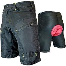 Urban Cycling Apparel The Single Tracker - Mountain Bike MTB Baggy Shorts Zip Pockets, Bundle underliner