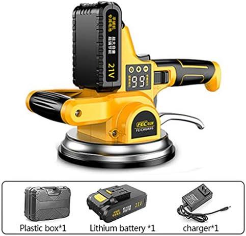 30〜200センチメートル床用21Vタイルバイブレータ充電式スマートワイヤレスタイルマシン10,000 mAhのリチウム電池の160ミリメートル拡大吸引カップは、建設タイル (色 : 1 battery)