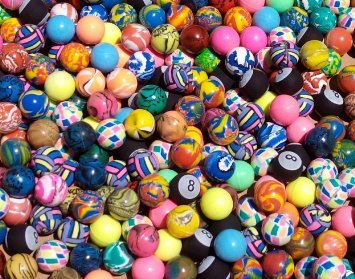 Rhode Island Novelty Assorted Premium Bouncy Balls 27mm (500 Count) -