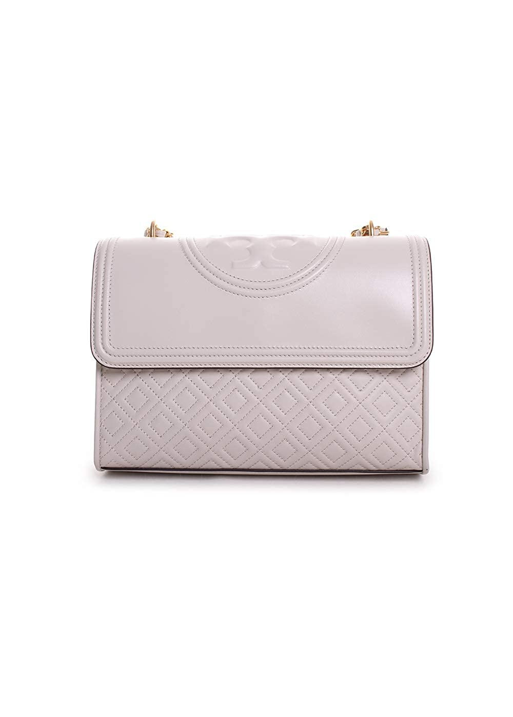 07e94721da8 Amazon.com  Tory Burch Fleming Convertible Leather Shoulder Bag (Birch)   Clothing