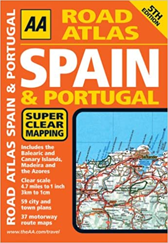 AA Road Atlas Spain and Portugal (AA Atlases and Maps): Amazon.co.uk ...