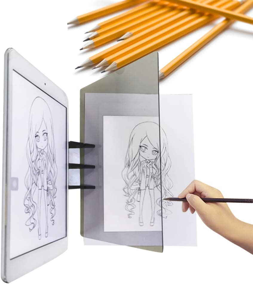 Greatangle Support de t/él/éphone Portable Sketch Wizard Tracing Drawing Board Optical Draw Projector Painting Reflection Tracing Line Table Transparent
