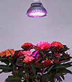 QCLED LED Plant Grow Light For Hydroponic Garden Greenhouse(12W,E27, 3 Bands)