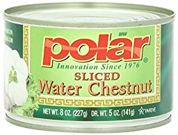 Polar Water Chestnuts, Sliced, 8-Ounce (Pack of 12)