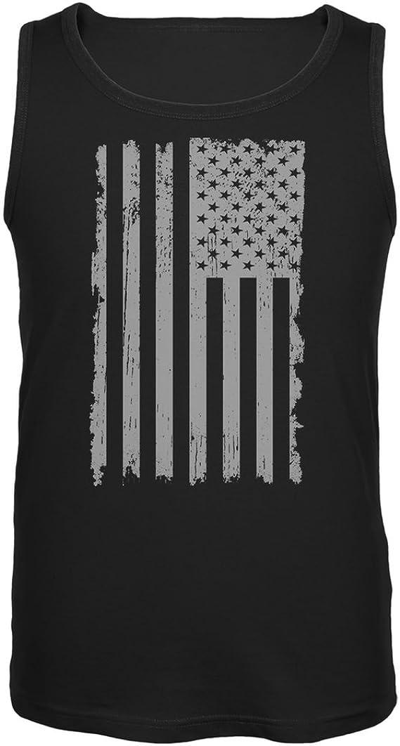 4th of July American Flag Pride Thumbprint Navy Adult T-Shirt