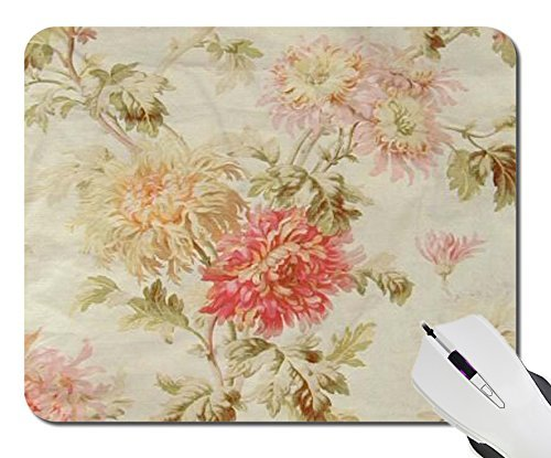 - Custom Design Computer Game Mouse Mat Pad, Notebook Non-Slip Rubber White Mousepad Mousemat (Antique French Floral-Toile)