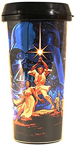 Silver Buffalo SW4287 Star Wars A New Hope Plastic Travel Mug, 16-Ounces