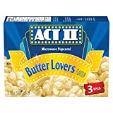 Act ii Microwave Gourmet Popcorn - Butter Lovers Flavour (3 x 78g Snack-Size Bags), 1 Count