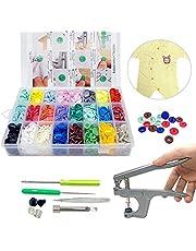 360 Sets Plastic Buttons Fasteners Snap Button Snap Plier Kit 24 Colors