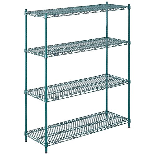Nexel Wire Shelving, Green Epoxy, 60