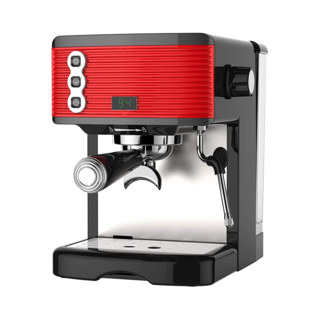 LAOSUNJIA Máquina de café Pequeño Semiautomático Concentrado Fresco Tipo Vapor Filtro de bocina Puede controlar el Tiempo de extracción (Color : Red, ...