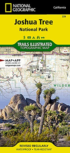 Map: Joshua Tree National Park (National Geographic Trails Illustrated Map) (Best Climbs In Joshua Tree)