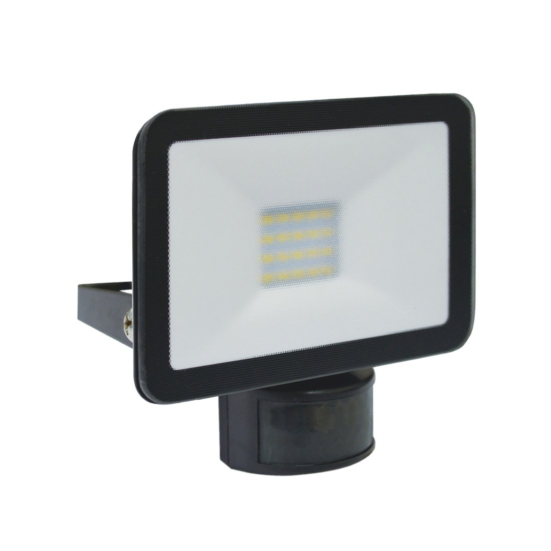 Elro Diseño LED lámpara de exterior con detector de movimiento (10 W, 900 lm, aluminio, negro, 12 x 2 x 12 cm: Amazon.es: Iluminación