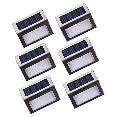Cheap  YouMiYa [Upgraded 3 LED] Solar Stairs Lights Platform, Deck and Garden Lamps..