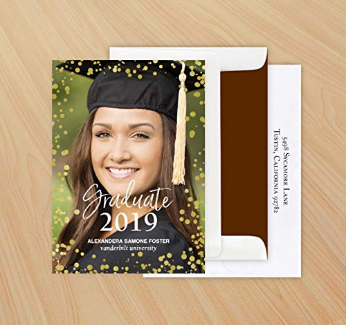 Faux Foil Bubble Graduation Announcements - Set of 24-4093