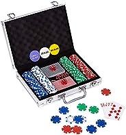 LOCKYOUNG Poker Chips Set, Poker Chips Set Texas Holdem Blckjck Gamblin