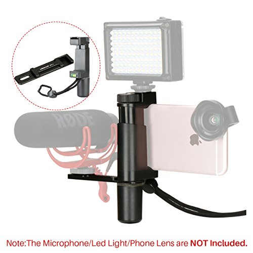 Ulanzi Phone Video Stabilizer Handheld Smartphone Video Shooting Equipment for LED Video Light Shotgun Microphone Hot Shoe Filming for YouTube Live Streaming Vlogging Videomaking