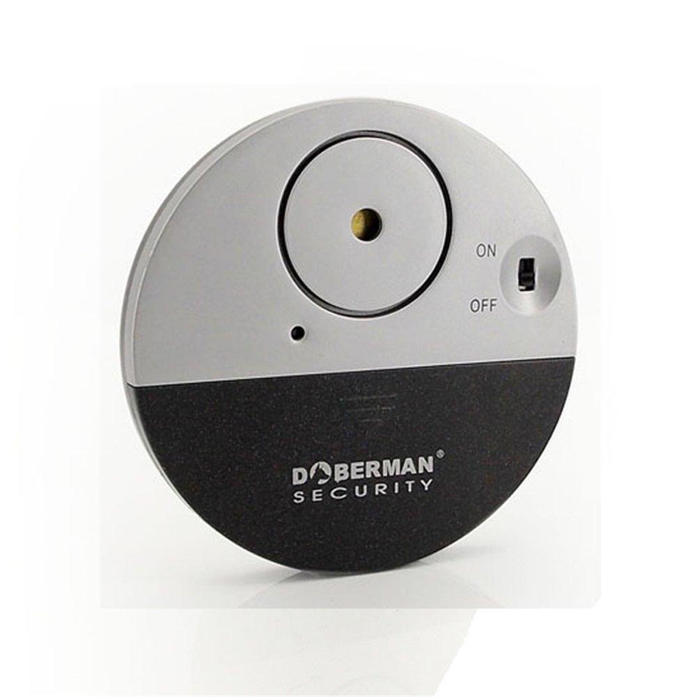 IHRKleid Ultra-Dü nner Fensteralarm mit lautem 100dB Alarm und Vibrationssensoren Glasbruchmelder Alarmanlage Vibration Ausgelö st - Moderne und ultra-dü nnen Design Kompatibel mit jedem Fenster