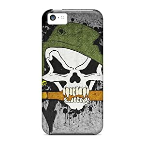 New Customized Design Metal Mulisha For Iphone 5c Cases Comfortable For Lovers And Friends For Christmas Gifts