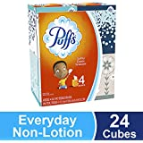 Puffs, Everyday Non-Lotion Facial Tissues, 24 Cubes, 64 Tissues per Box