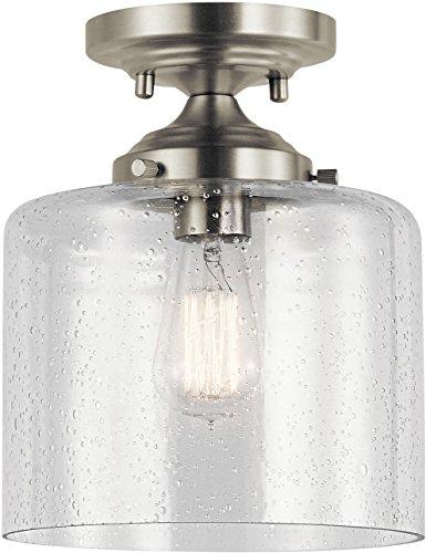 10.5 Inch Semi Flush - Kichler Lighting 44033NI Semi Flush, Brushed Nickel