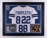Emmitt Smith Troy Aikman Michael Irvin Triple Autographed Signed Custom FRAMED Dallas Cowboys Jersey TRIPLETS JSA GTSM COA & Hologram