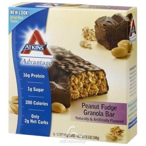 Atkins Advantage Bar Pnt Fud Grn 5/1.6 Oz