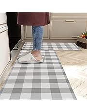 Homcomoda Kitchen Rugs Waterproof 2Piece Anti Fatigue Kitchen Floor Ma