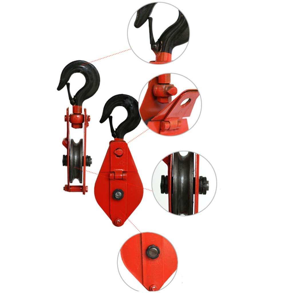 1102 Lb 500 Kg kesoto Winch Hook With Pulley Red