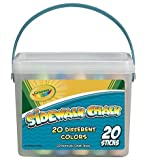 Crayola Sidewalk Chalk Featuring 20 Different Colors in a Convenient Sealable Storage Tote with Handle