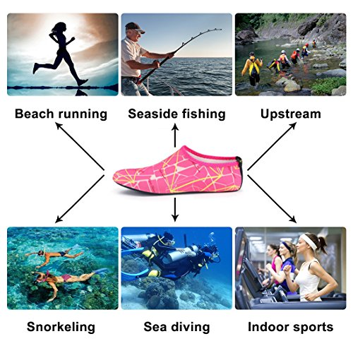 Home Slipper Barefoot Water Skin Shoes Aqua Neoprene Socks For Beach Pool Swim Surf Yoga Snorkeling Printed Gray Orange SynqcG7g