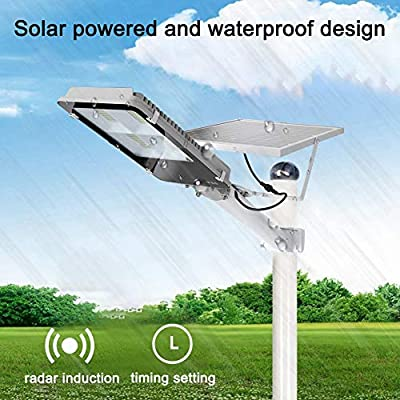 300W Solar Courtyard Wall Light High Bright LED Lamp Durable for Road Corridor