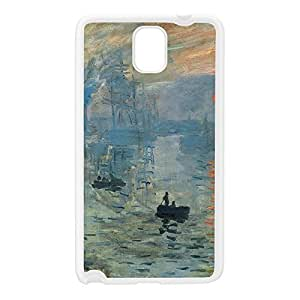 Impression soleil levant 2 by Claude Monet White Silicon Rubber Case for Galaxy Note 3 by Painting Masterpieces + FREE Crystal Clear Screen Protector