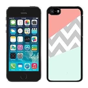 Case Coral Mint Grey Chevron Iphone 5c Case Black Cover