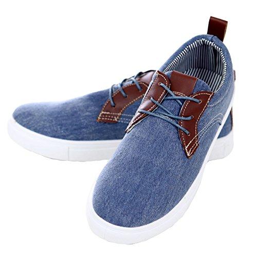 Reslad Sneaker Herren Schuhe Exklusiv Schnürer Denim Jeans Look RS 88602