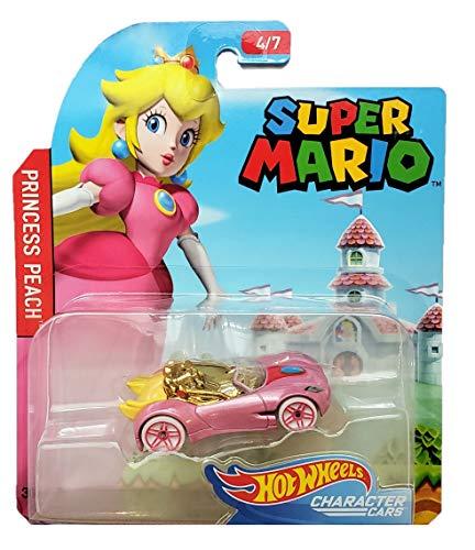 Hot Wheels Super Mario Character Cars Princess Peach Vehicle 4/7 ()