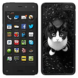 LECELL--Funda protectora / Cubierta / Piel For Amazon Fire Phone -- lindo gato gato doméstico de pelo corto americano --
