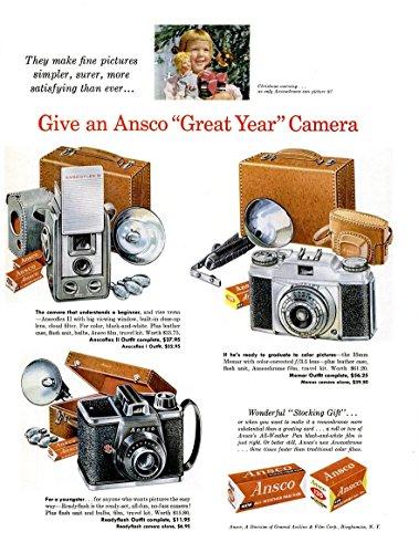 Color Film Ansco (ORIGINAL *PRINT AD* 1956 ANSCO CAMERAS & FILM