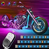 Govee Motorcycle LED Lights Kits, 8pcs Rope Lights with Remote and Control Box, Waterproof RGB Motorcycle Lights with 20 Colors 4 Music Modes, SMD 5050 LEDs Flexible Lights with 3M Adhesives Clips