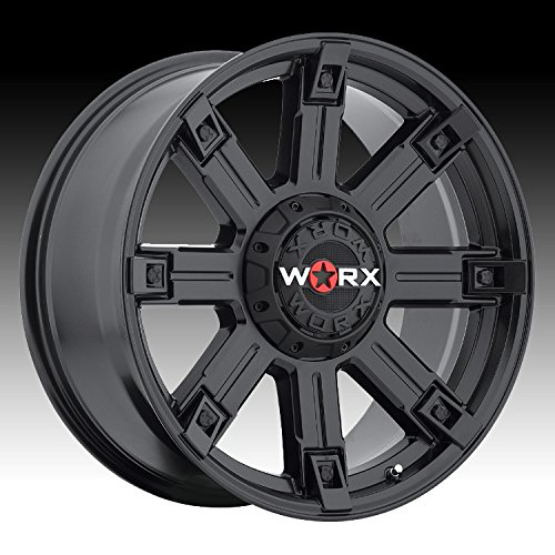 (Worx 806SB Triton Satin Black Wheel with Painted (20 x 9. inches /5 x 150 mm, 25 mm Offset))