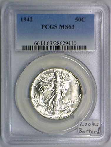 1942 No Mintmark Walking Liberty Half Dollar MS-63 PCGS