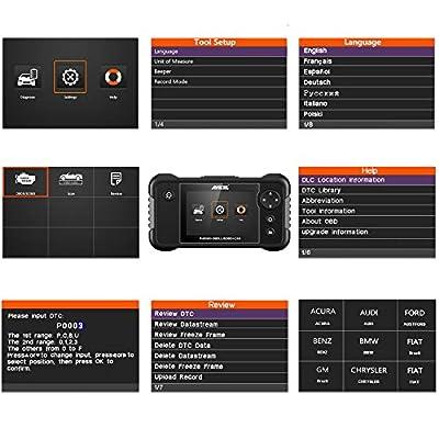 ANCEL FX2000 Vehicle OBD2 Scanner Automotive Car Code Reader Check Engine ABS SRS Transmission Diagnostic Scan Tool