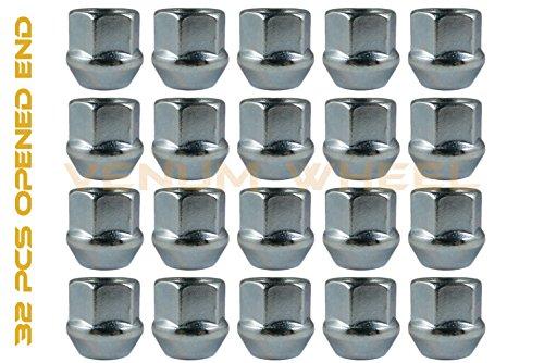 14x1.5 Open End Lug Nuts Bulge Acorn (QTY-32 Pcs) Zinc Finish Fits All Trucks & Cars With A 14x1.5 Thread