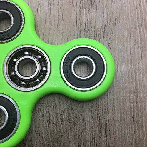 Hand Spinner Guarantee 2 Mins+ Spin Time Quiet and Smooth Fidget Spinner Toy Stress Reducer Good for ADHD EDC Hand Killing Time(Upgrades-Green) -