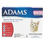 Adams Flea and Tick Spot on for Cats and Kittens with Smart Shield Applicator, 3-Month Supply, My Pet Supplies